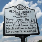 Historical marker for George Moses Horton